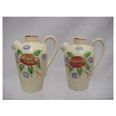 Salt and Pepper Set Ewer Shakers in Original Box