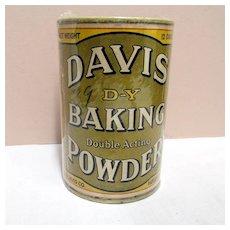 Davis D-Y Baking Powder Tin Original Contents