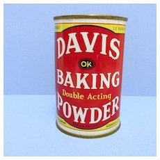 SOLD     Davis Baking Powder 12 oz. Advertising Tin