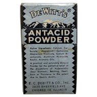 Drugstore Pharmacy Advertising Item Dewitt Antacid Powder  LAST ONE