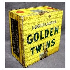 Golden Twins Advertising Tobacco Tin