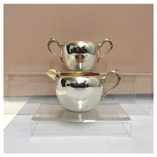 Cream and Sugar Set American Silver Plate