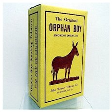 Orphan Boy Advertising Tobacco Box MINT Unused Condition