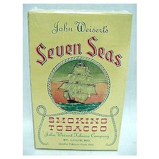Advertising Seven Seas Nautical Tobacco Box MINT Condition Unused With Sailing Ship