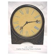 Antique Teaching Time Dial by J. E. Lyons with Original Box