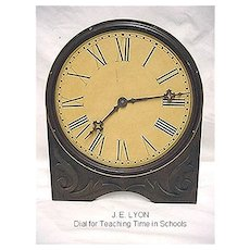 Antique Advertising Clock For Teaching Time Dial by J. E. Lyons with Original Box
