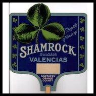 Fan Advertising Promotional for Shamrock Sunkist Valencias Oranges