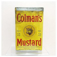 Colmans Mustard 1 Lb. Spice Advertising Tin