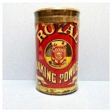 Royal Baking Powder 6 ounce Advertising Tin
