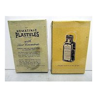 Physicians Sample of Two Hematinic Plastules Unopened $15 Each