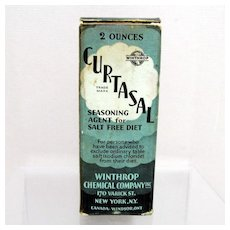 Curtasal Salt Free Diet Seasoning Advertising Box