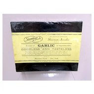 Sherman Foods Extract of Garlic  Drugstore or Pharmacy Advertising Box