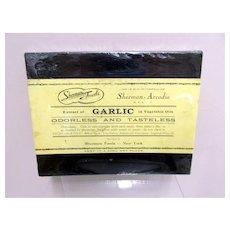 Sherman Foods Extract of Garlic  Drugstore or Pharmacy Advertising Box