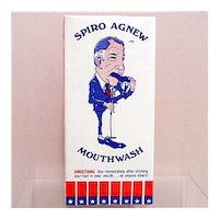 Advertising Spiro Agnew Mouth Wash Box Mint Unused Condition Drugstore Pharmacy
