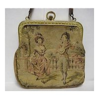 Hand Bag or Purse Woven Silk Tapestry