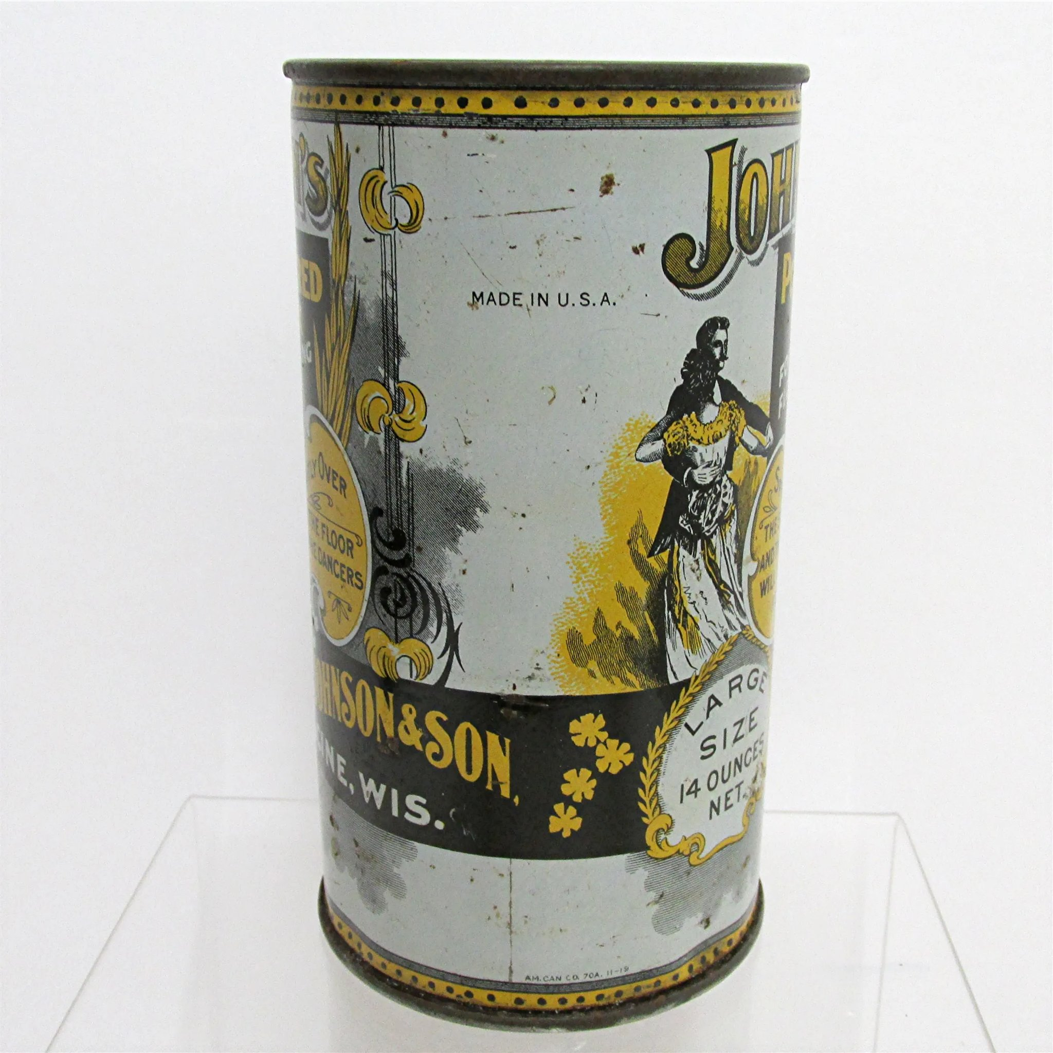 Antique Advertising Tin For S C Johnsons Powdered Dance
