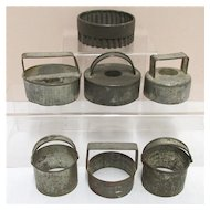 Kitchenware  Seven Cookie Cutters in Tin for Biscuits or Pastry