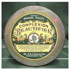 Dr. Lynas Complexion Beautifier Round Theatrical Advertising Tin