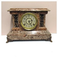 Seth Thomas Antique American Adamantine Mantel Clock