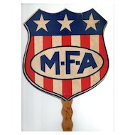 MFA Insurance Advertising Fan for Missouri Farmer's Association
