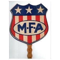 MFA Insurance Advertising Fan for Missouri Farmer's Association