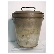 Tin Pudding Steamer with Lid