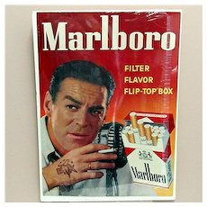 """SOLD   See other SIGNS for SALE    Marlboro Cigarettes Advertising Sign 18"""" by 25"""""""