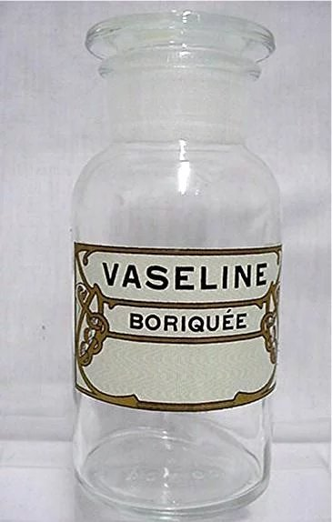 Antique Glass Apothecary Jar By T C W Co For Vaseline