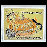 Original Advertising Sign For Wise Potato Chips