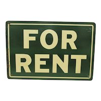 For Rent Metal Advertising Sign