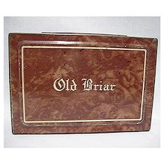 Old Briar Advertising Tobacco Tin