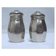 Silverplate Salt and Pepper Shaker Set Silver Plate