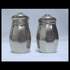 Silverplate Salt and Pepper Shaker Set Silver Plate