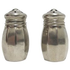 Salt and Pepper Shaker Set Baronial Silver Plate