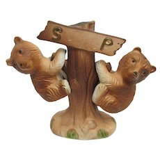 Salt and Pepper Shakers Climbing Bears Set