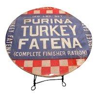 American Wrought Iron Leg Advertising Table  for Purina Turkey Fatena