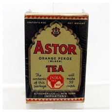 Advertising Astor Tea Box Mint Unopened Condition