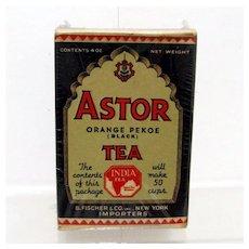 Astor Tea Box Advertising Tin Mint Unopened Condition