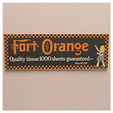 Advertising Sign Fort Orange  Counter Top Display