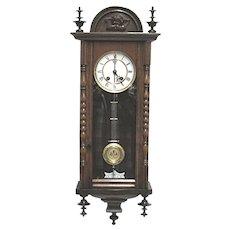 Antique Wall Clock by Neuhaus & Becker RARE Maker