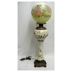 Antique Table Light American Glass Banquet Lamp Table Lamp