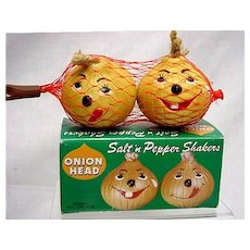 Salt and Pepper Shakers Onion Heads in Original Box  $20