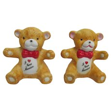 Salt and Pepper Shakers Souvenir of New Mexico Teddy Bears