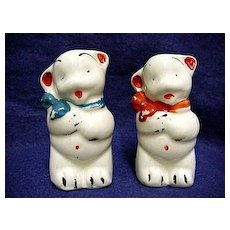 Salt and Pepper Bear Shakers American Pottery Co.