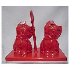 Salt and Pepper Set Three Piece Cat Shakers