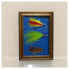 Weber Fly Fishing Flies Set of Three Framed
