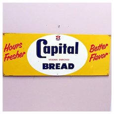 Advertising Sign For Capitol Bread Original Metal Sign