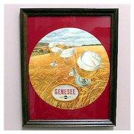 Original Genesee Beer Advertising Sign Framed Mint Condition