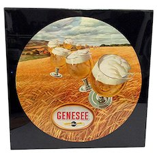 Advertising Sign Genesee Beer Lithograph Sign