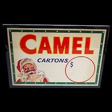 Advertising Sign Camel Cigarettes Christmas Store Display